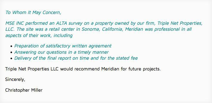 ALTA Land Title Surveyor Fairfield
